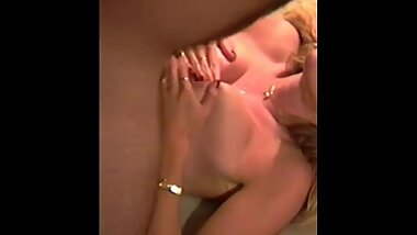 VHS vintage tit fuck and cum hot blonde homemade sex tape